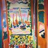 Mural of Matisse's Open Window, Collioure, 1905