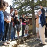 At Taliesin, students heard about the architect and saw his work.