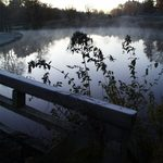View across Lyman Lakes on a chilly autumn morning