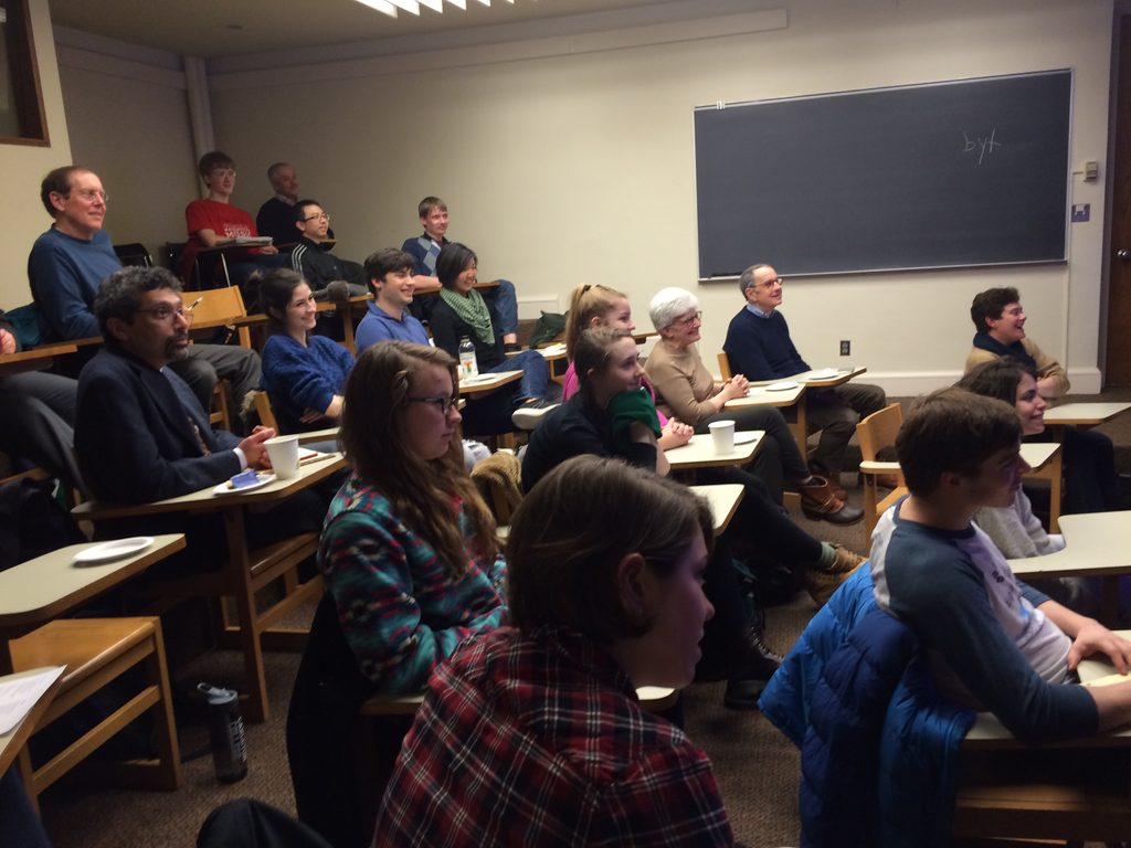Students and Faculty at the Ted Mullin Fellowship talk