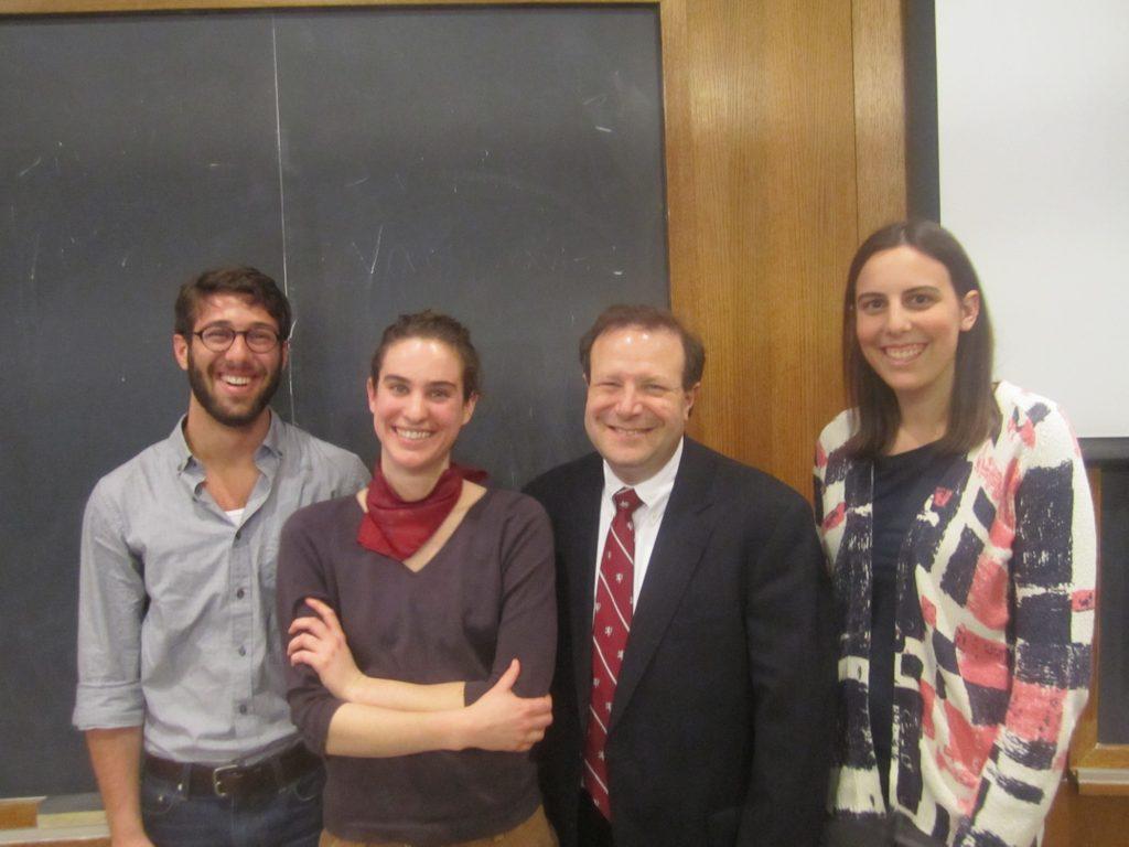 Ben Somogyi, Callie Millington, President Poskanzer, Laura Michel