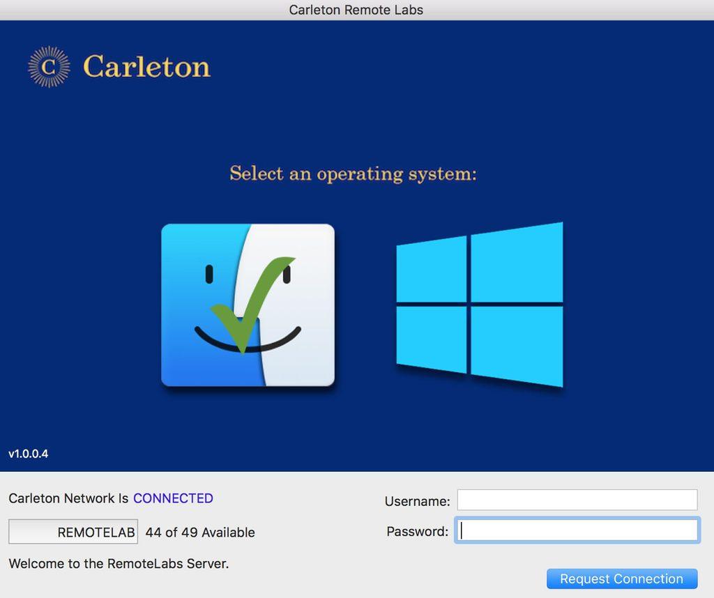 Choose Windows or MacOS