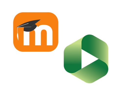 Logos for Moodle and Panopto