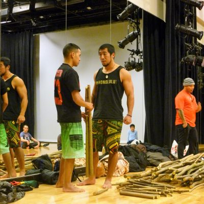 Members of the Halau preparing to teach Hula master class