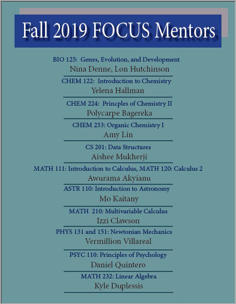 Current FOCUS Mentors
