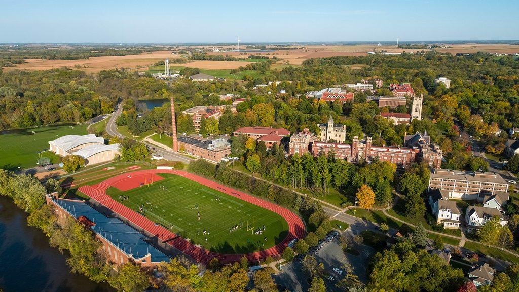 Aerial shot of Carleton Campus