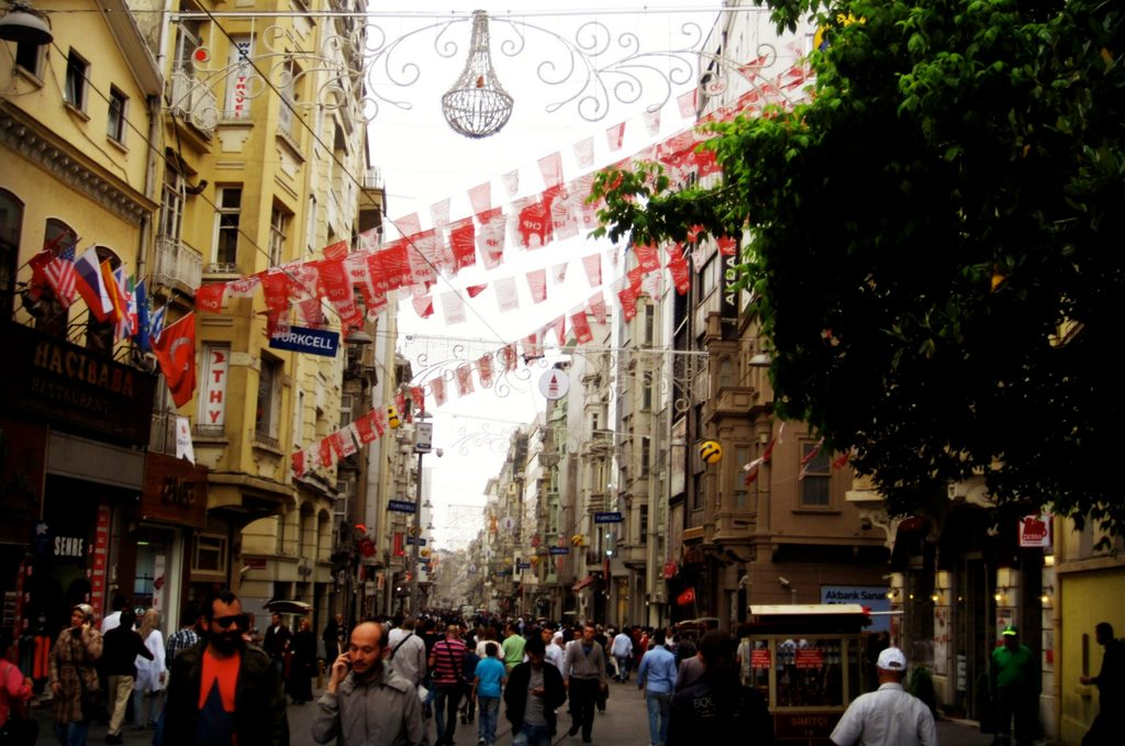 A busy street in Istanbul