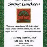 Spring Luncheon Invitation