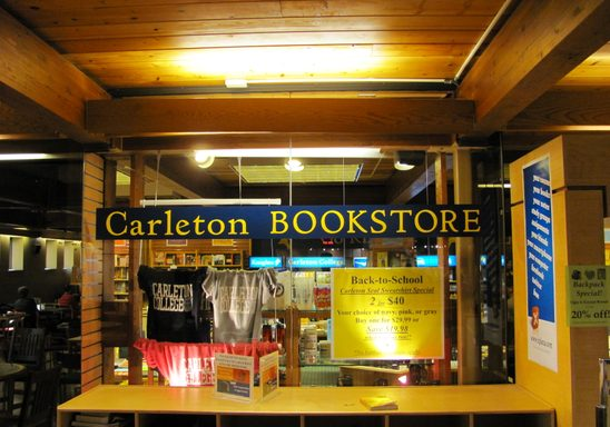 Carleton Bookstore in Sayles-Hill