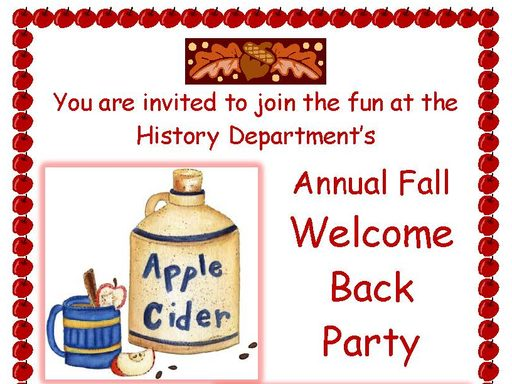 2019 welcome back party poster
