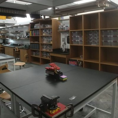 View of the makerspace looking northwest.
