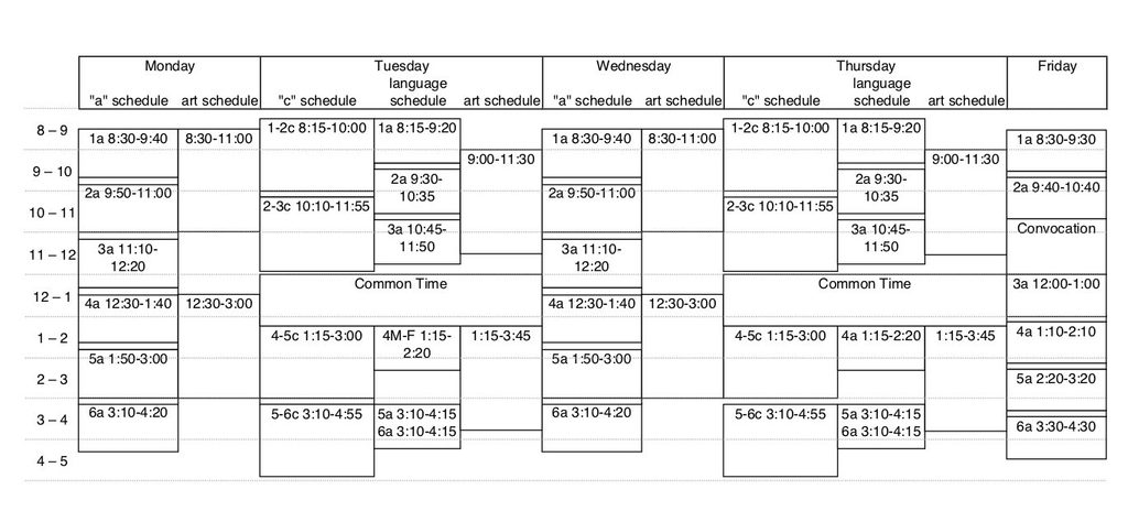 Daily Class Timetable