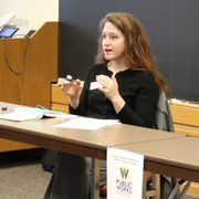 Jennifer Tonko presents at the 2019 Public Works Winter Workshop