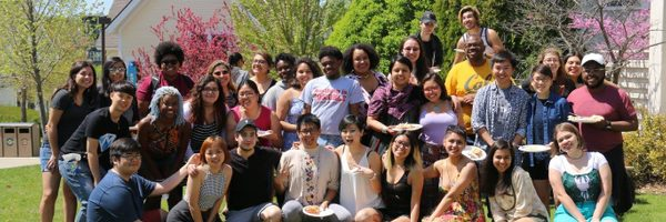 34 members of QTPOC on a sunny day on campus