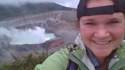 Holly Buttrey '14 on a recruiting trip in South America