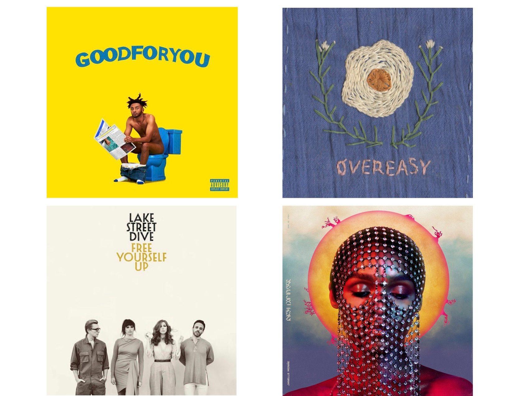 Four album covers