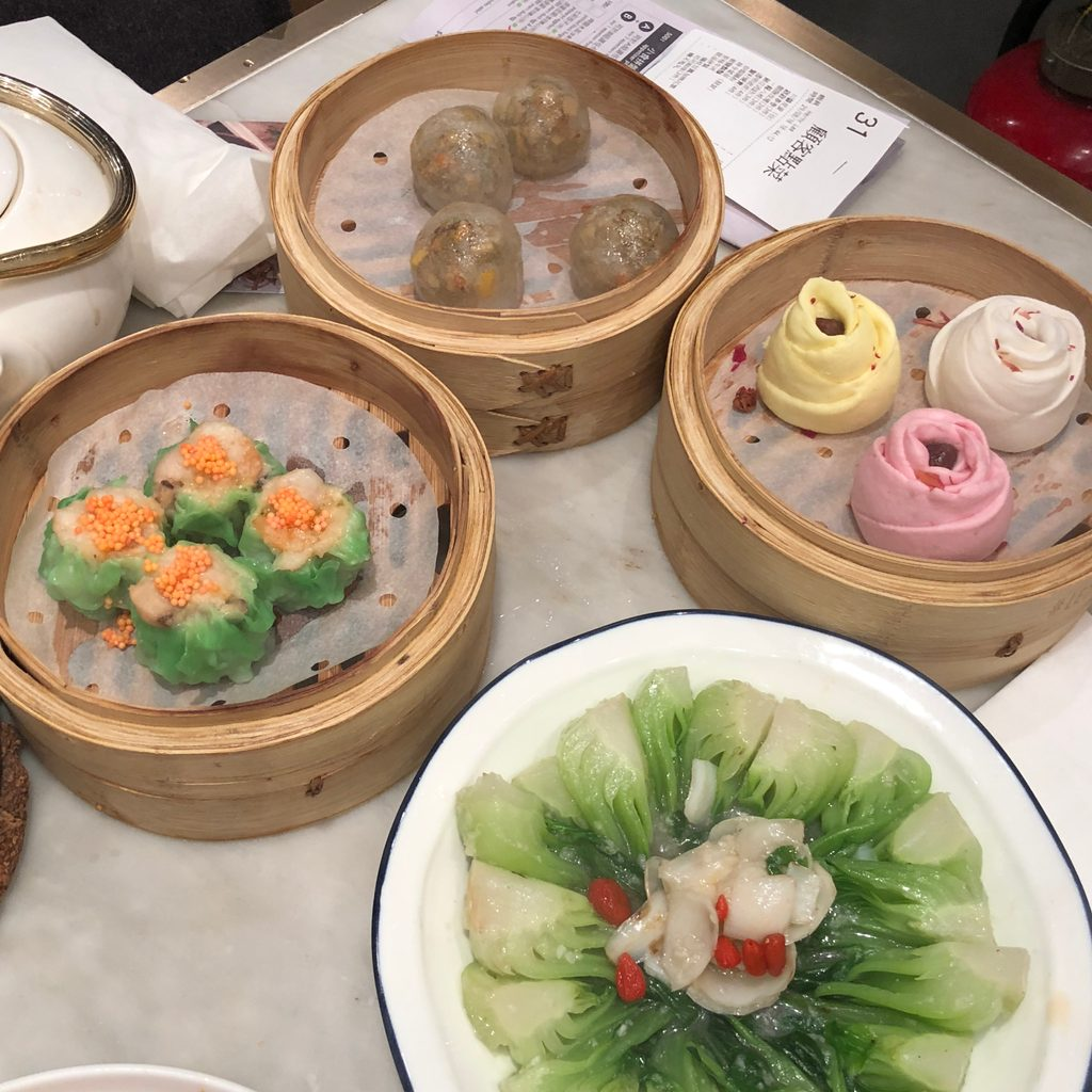 Dim sum dishes I ate in Hong Kong while studying abroad.