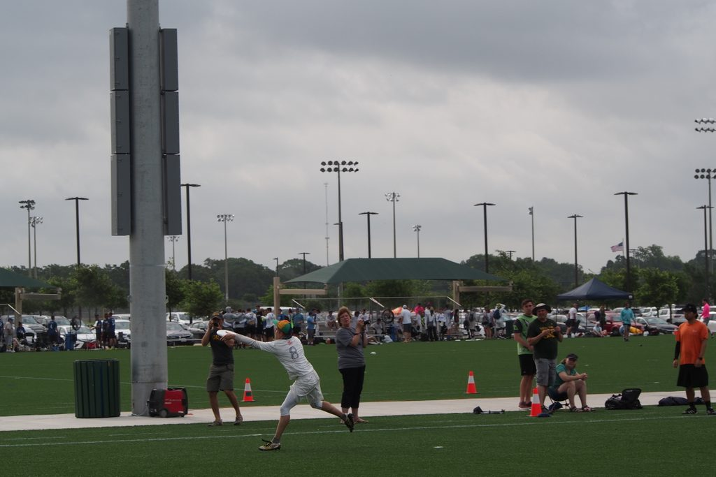 Jacob catching a goal at DIII College Nationals.