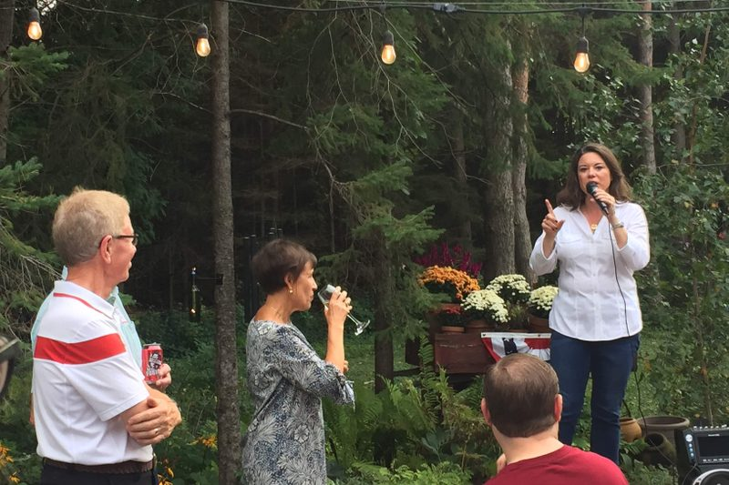 Congresswoman Angie Craig speaks at house party