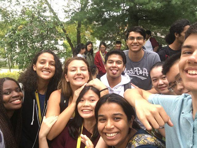 international students taking a selfie