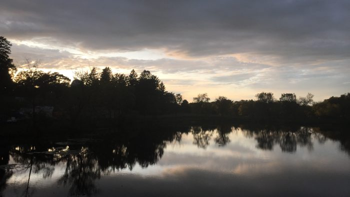 Outdoor, lake during sunset