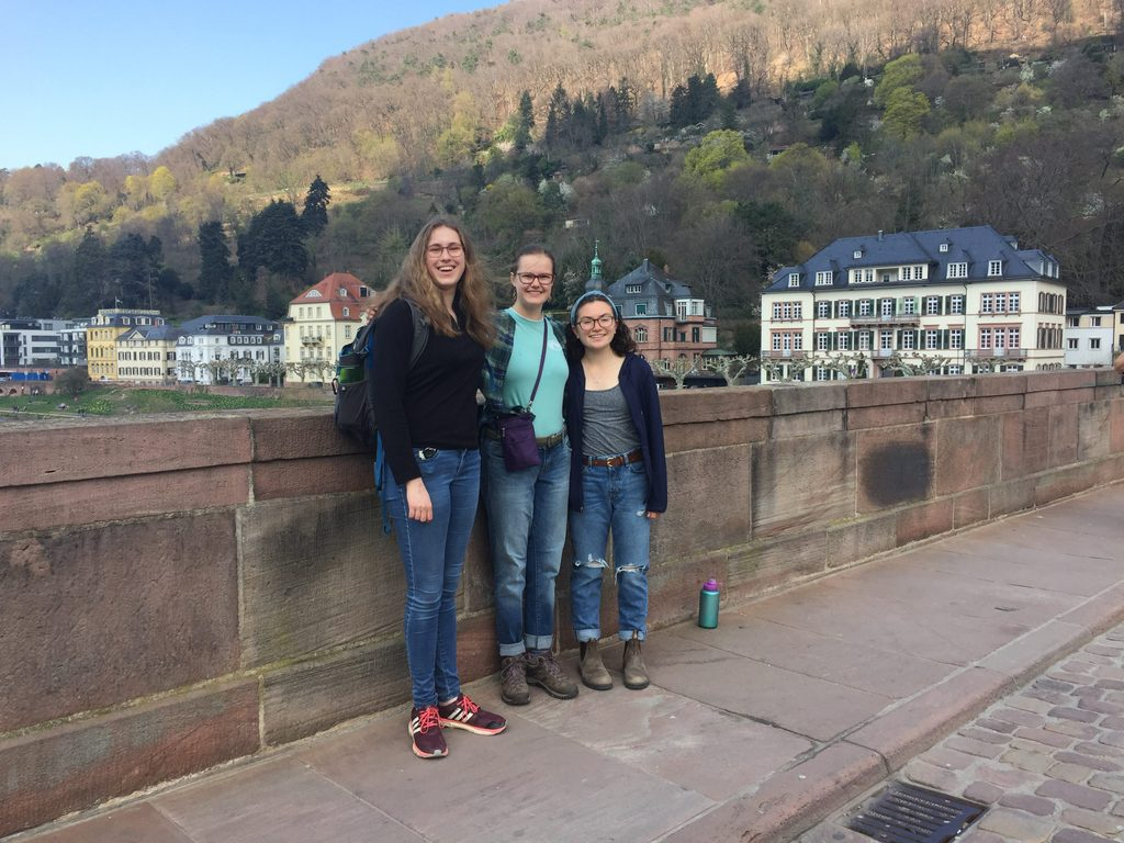 girls on a bridge in Germany