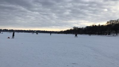 Frozen Lake Twin Cities