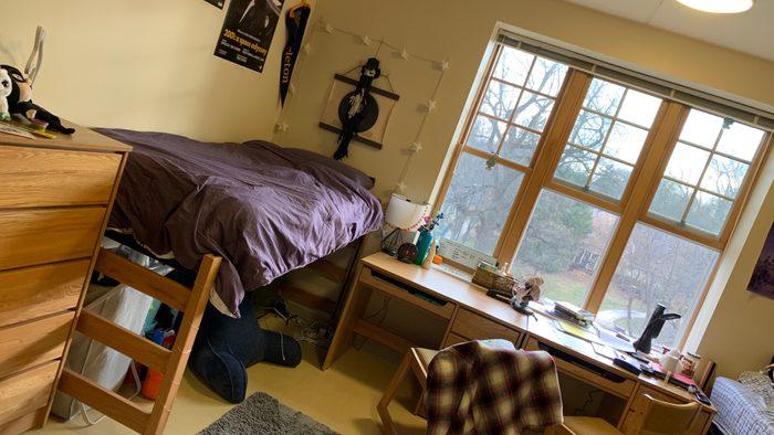 The inside of Lucas' old Cassat dorm room