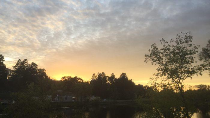 A beautiful sunset view of a beautiful lake