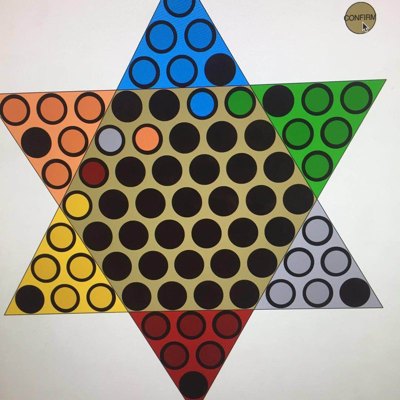 """A student made computer game based on """"Chinese Checkers"""""""