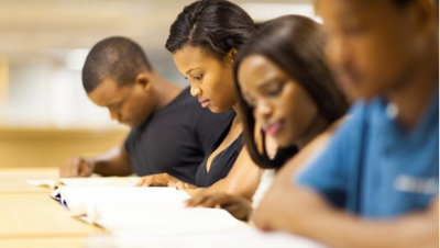 black college students studying