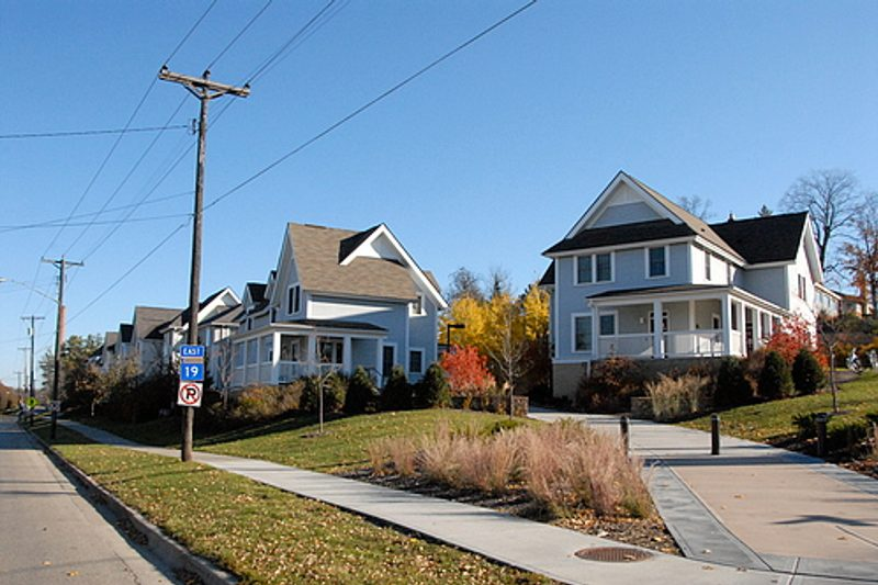 Picture of the student townhouses.
