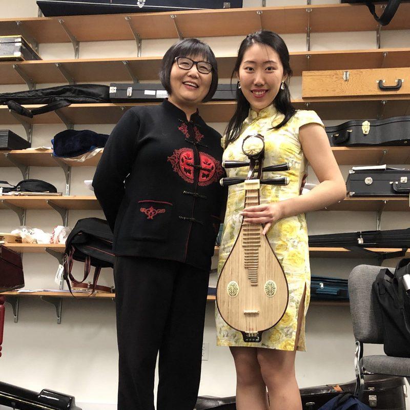 with my ensemble director Gao Hong