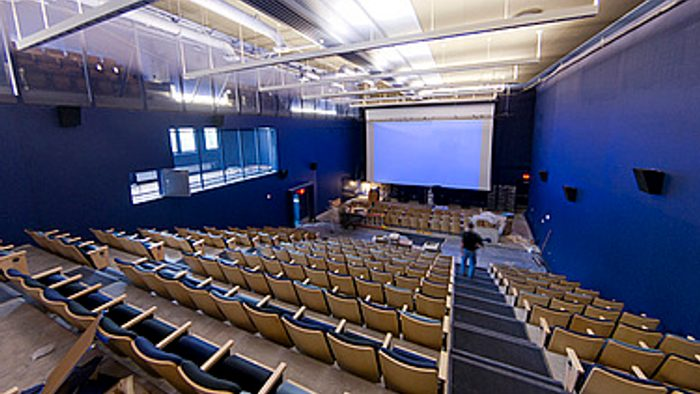 the inside of our on-campus theater
