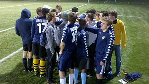 Example of camaraderie among soccer players.
