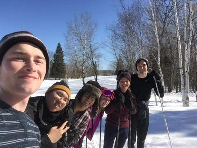 Friends on a ski trip!