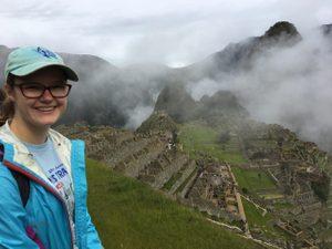 greta at Machu Picchu