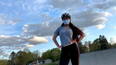McKenna at the Northfield Skate Park