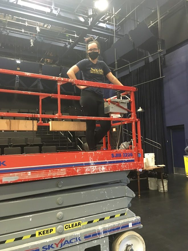 McKenna at work in the Theater