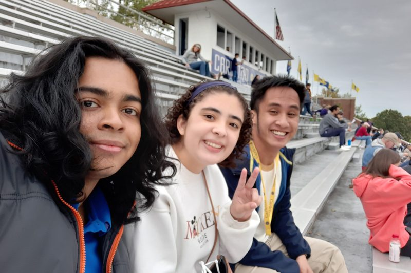 Me and my friends in our first American Football game