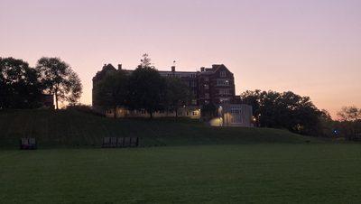 Evans Hall at sundown