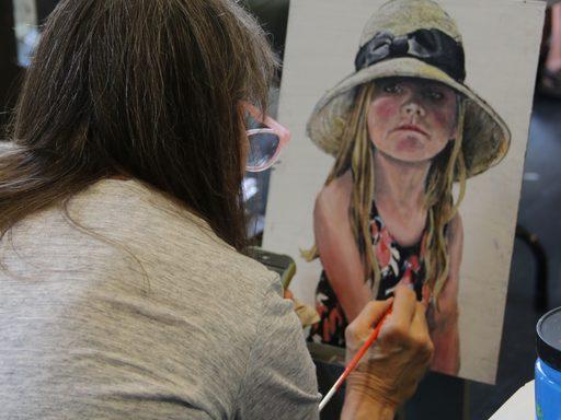 APSI art participant painting
