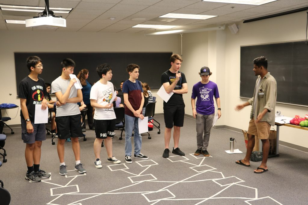 Computer science doing a group activity