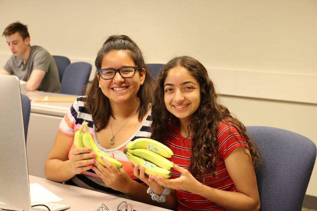 computer science students with bananas