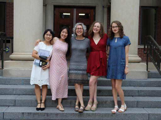 Students with Professor Nierobisz after the program banquet