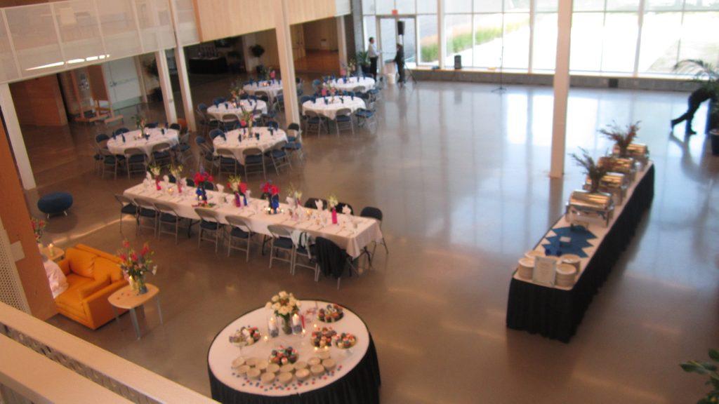 Reception Space in Weitz Center