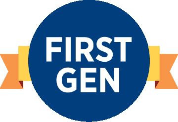 """logo saying """"first gen"""""""