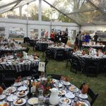 Trustees Dinner under the tent at Nutting House