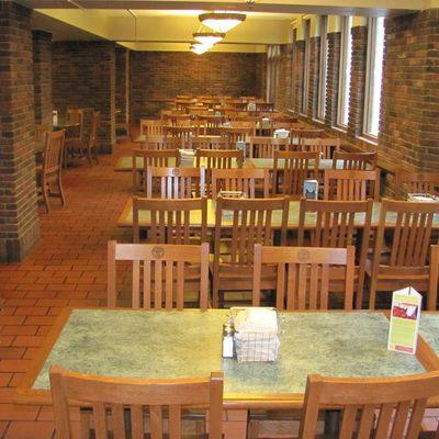 Burton Dining Hall seating.