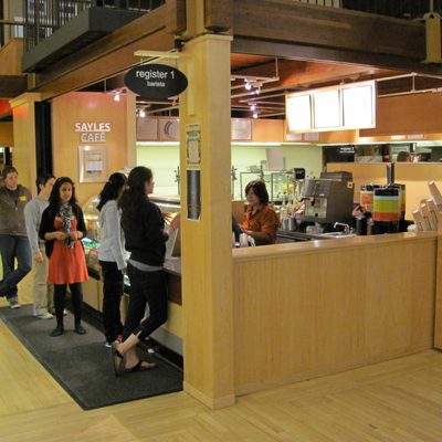 Sayles Café featuring a la carte dining for either eating in or take out